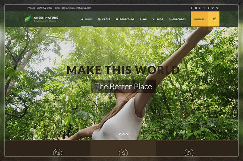 Green Nature - Environmental / Non-Profit WP Theme