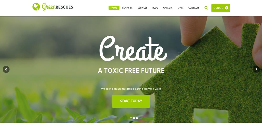 premium nature wordpress theme