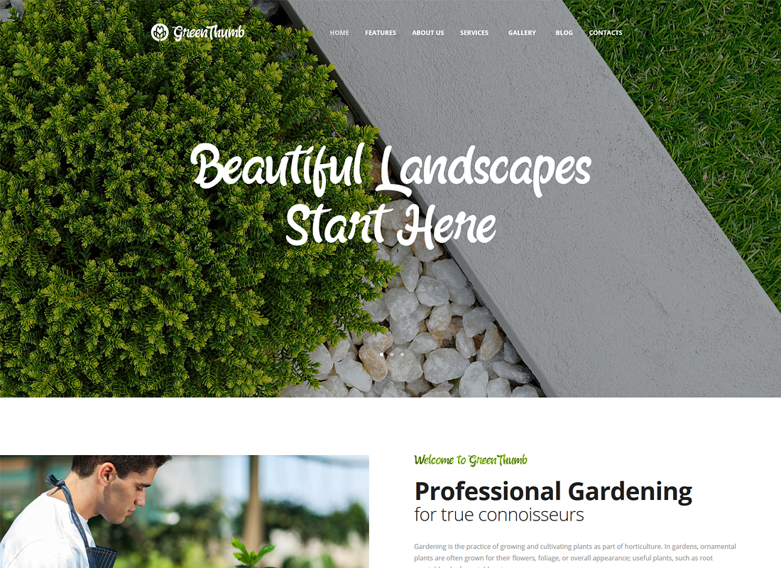 Green Thumb - Gardening & Landscaping WordPress Theme