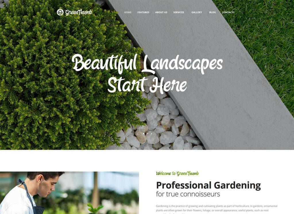 Green Thumb | Gardening & Landscaping WordPress Theme
