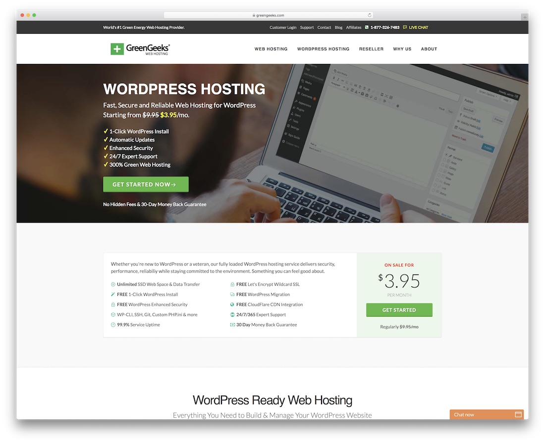 greengeeks cheap hosting for wordpress