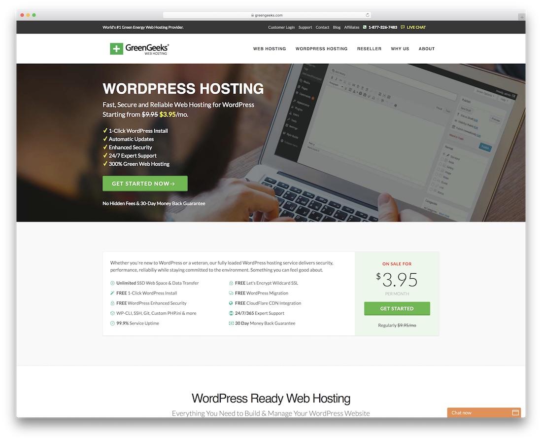 greengeeks cheap hosting for wordpress