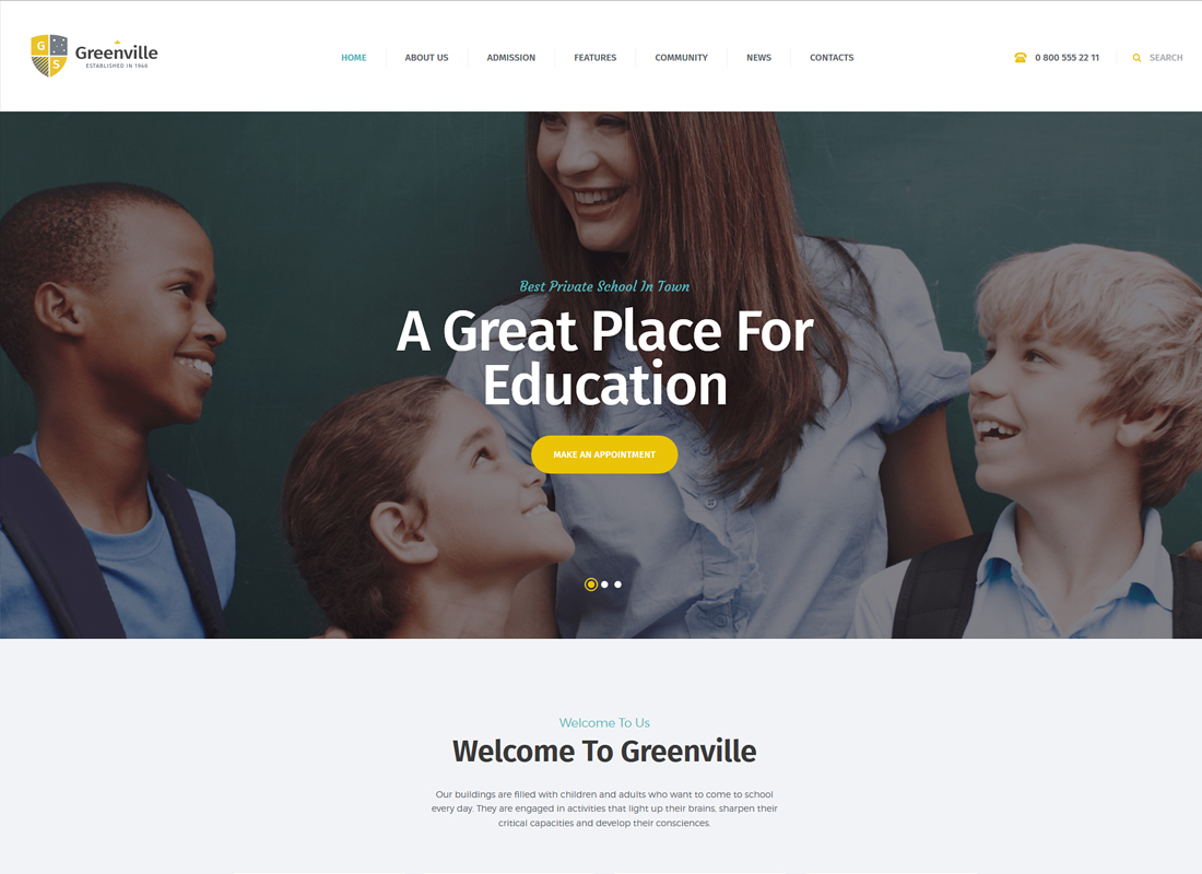Greenville | A Private School WordPress Theme