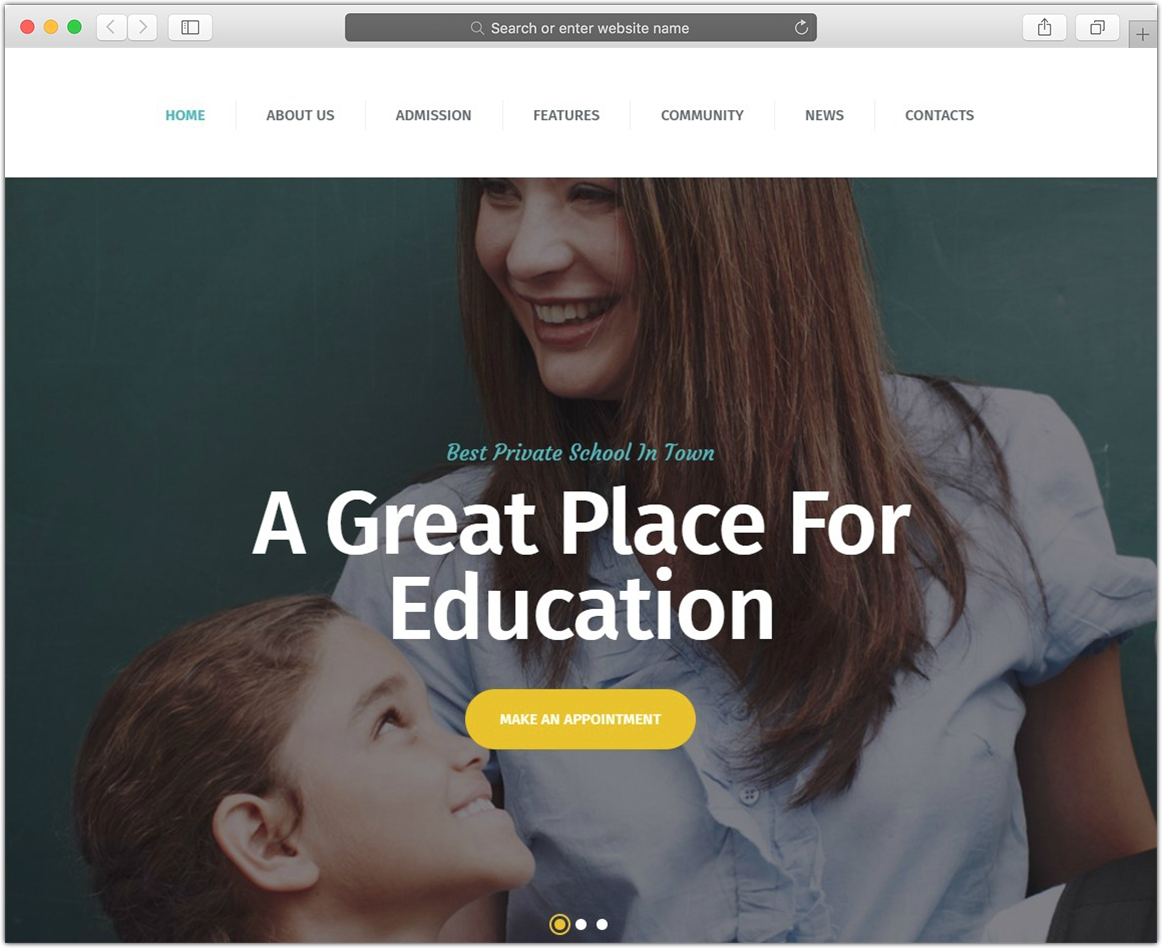 Greenville | Private School WordPress Theme