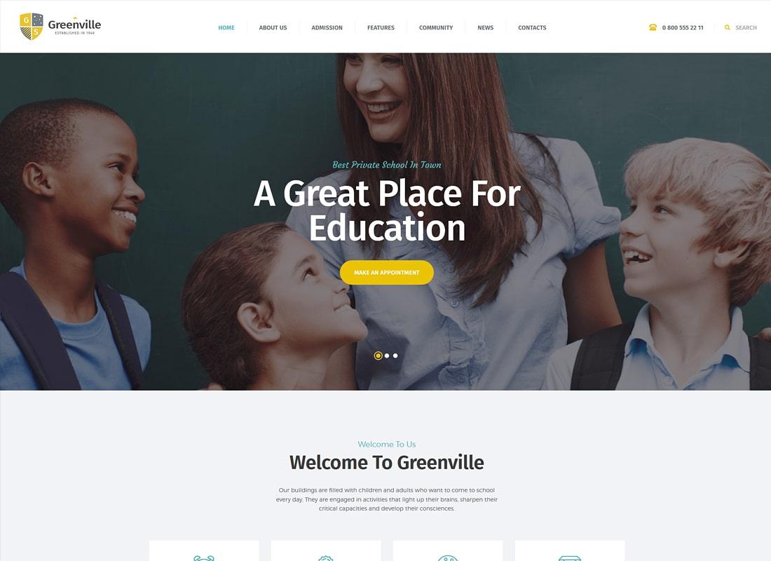 Greenville | A Private School WordPress Theme