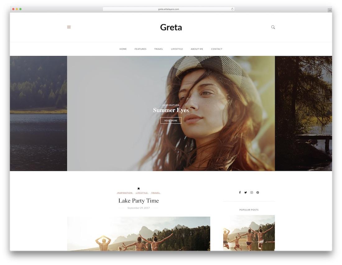 greta cheap wordpress theme