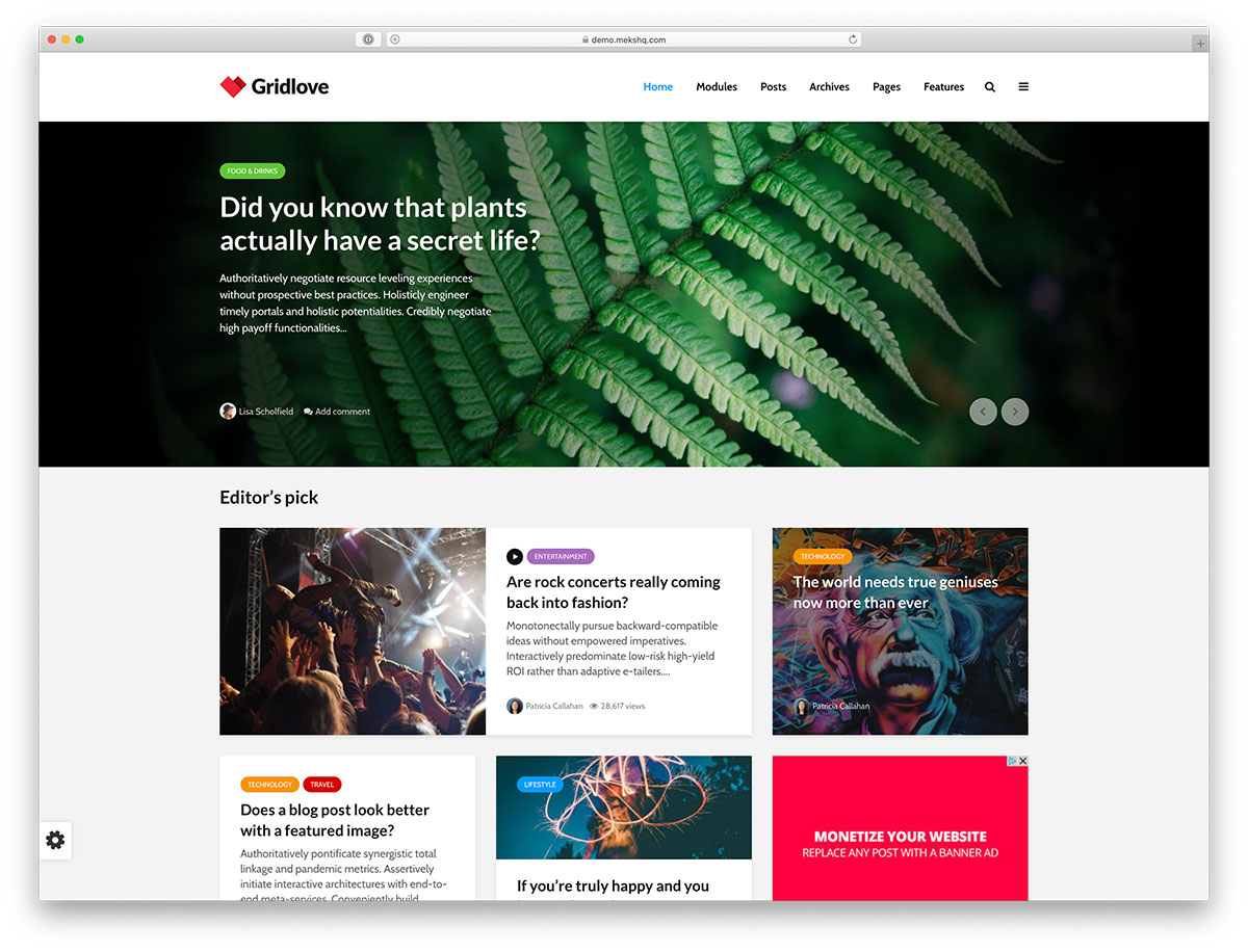 34 Masonry Grid Style WordPress Themes Inspired By Pinterest To Build Awesome Blog Or Portfolio – 2019