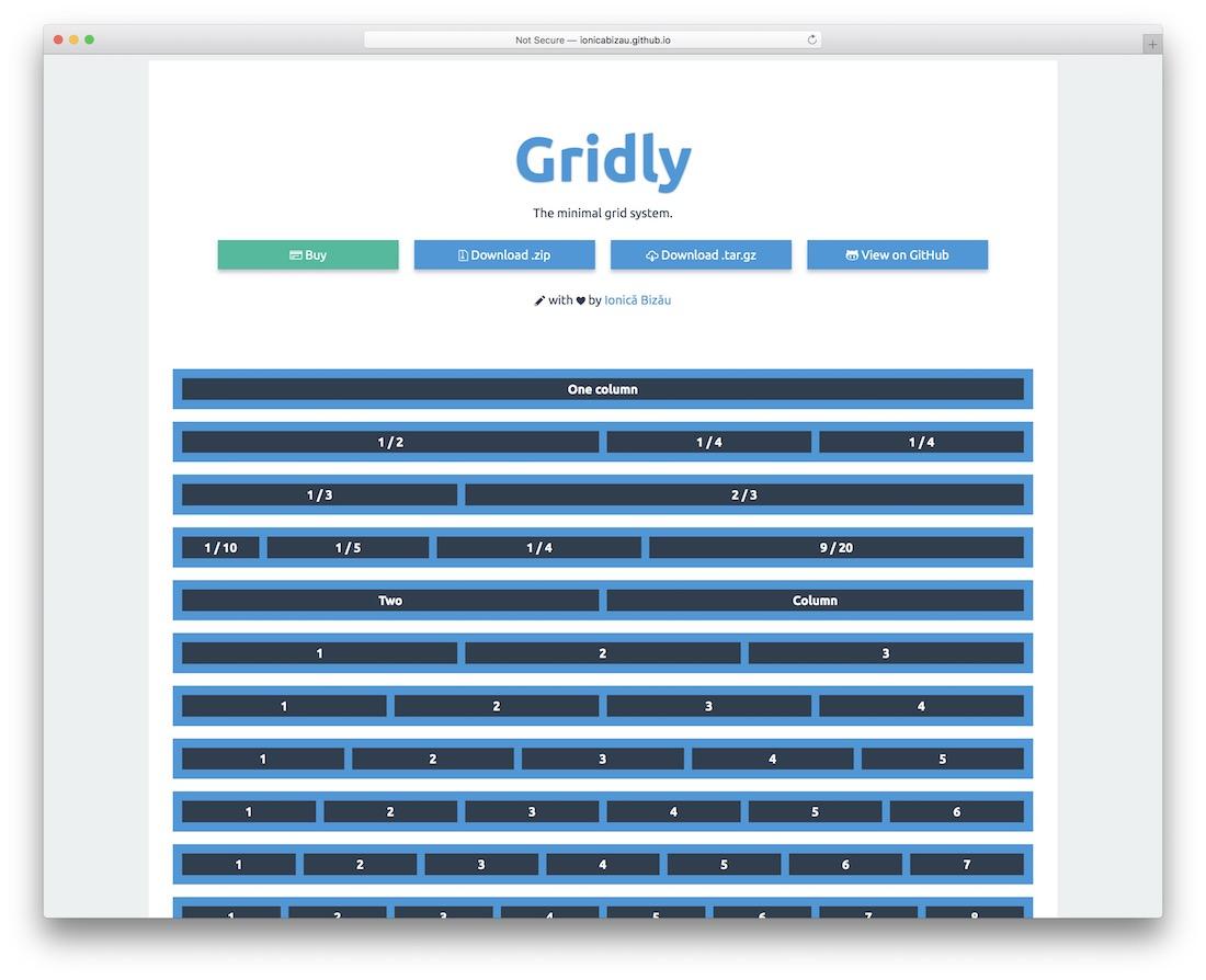 gridly grid framework