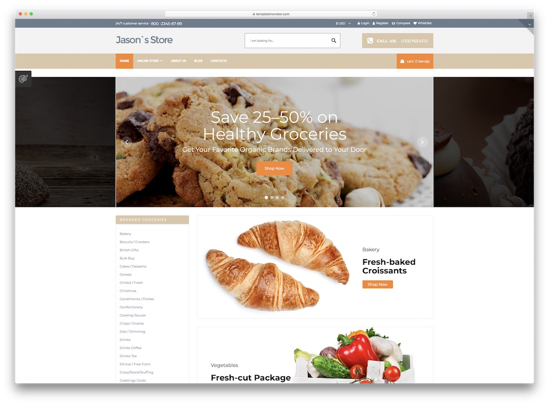 grocery store virtuemart template