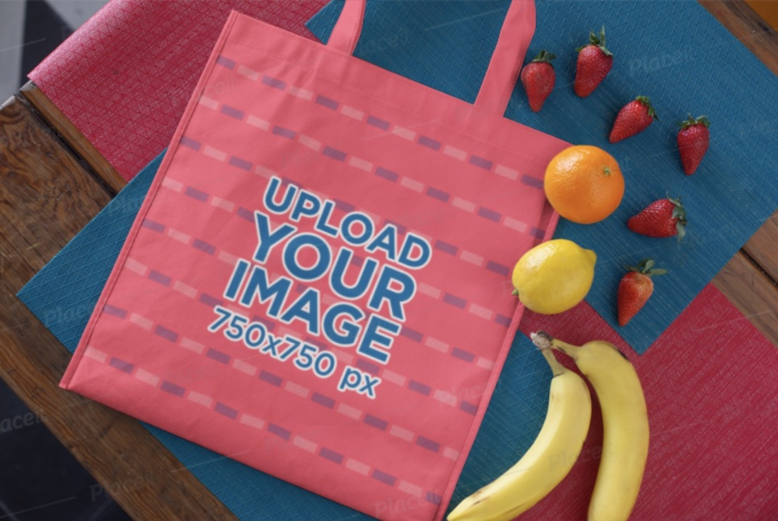 grocery tote bag mockup