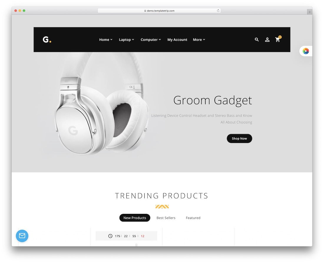 groom sport store prestashop theme