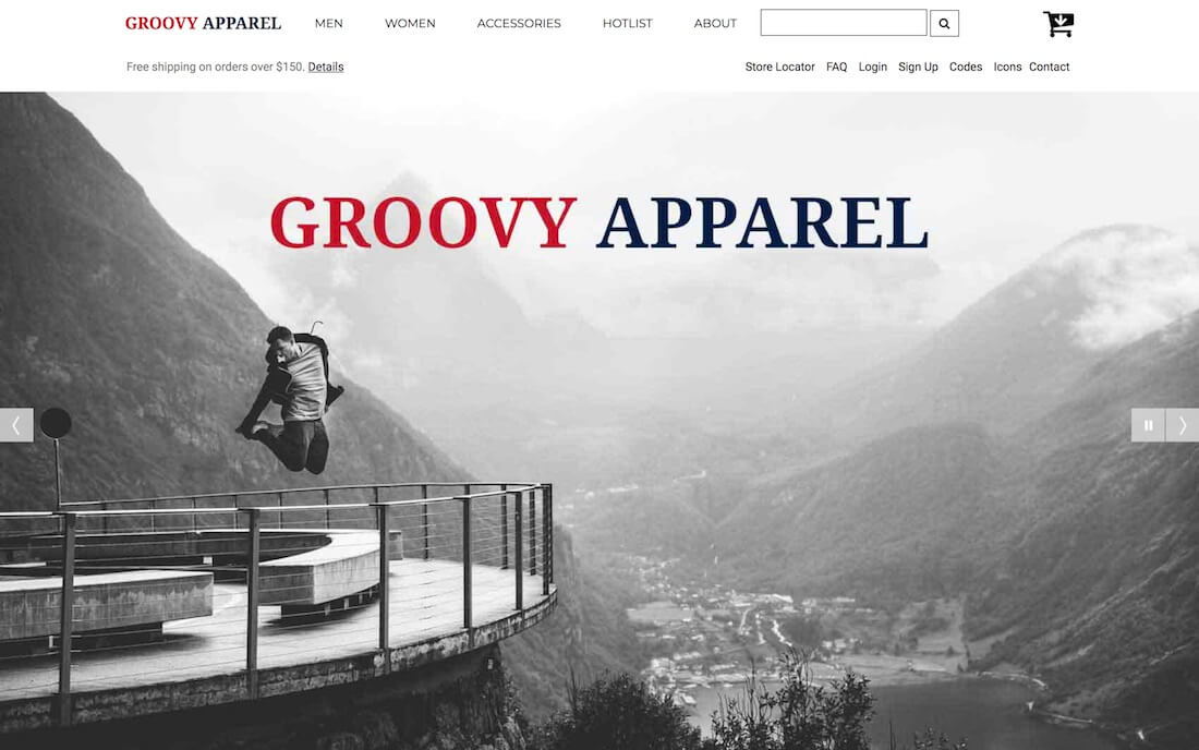 groovy apparel free fashion website template