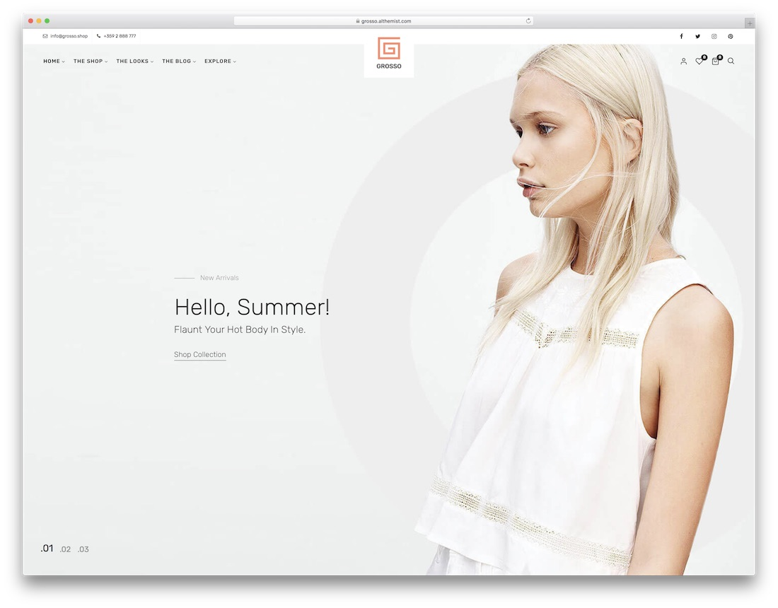 grosso fashion ecommerce theme