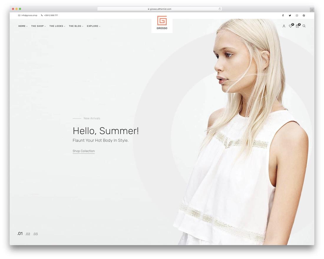 grosso fashion wordpress theme