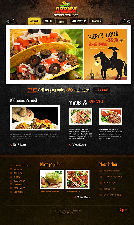 Mexican Restaurant WordPress Theme
