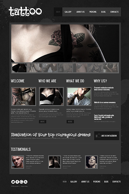 Tattoo Salon WordPress Theme