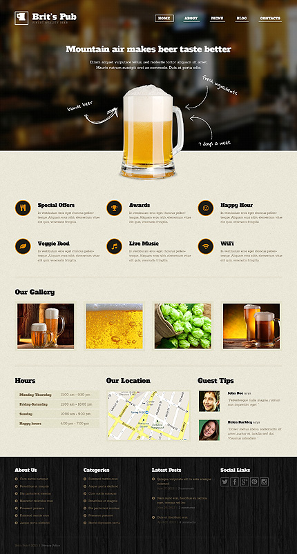 Beer Pub WordPress Theme