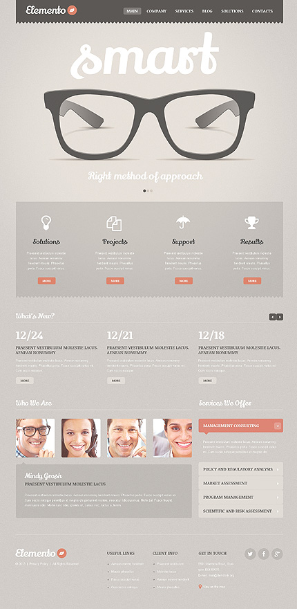 Consulting Bureau WordPress Theme