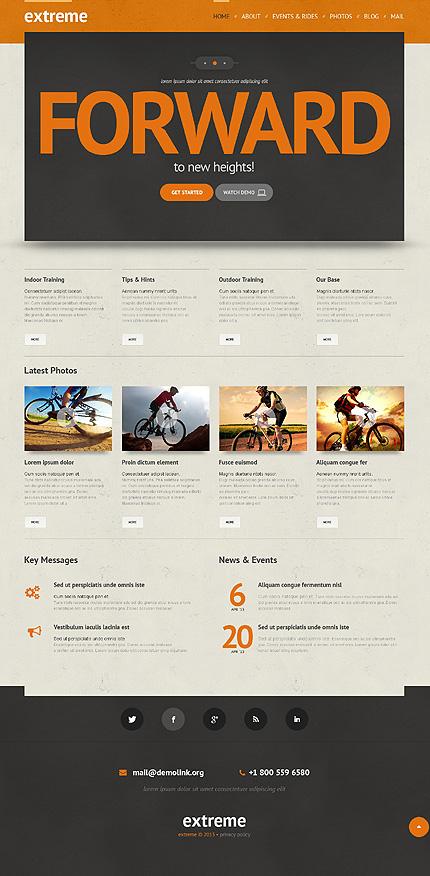 Extreme Sports Responsive WordPress Theme