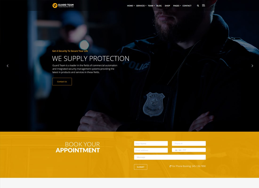 Guard Team - Security WordPress Theme