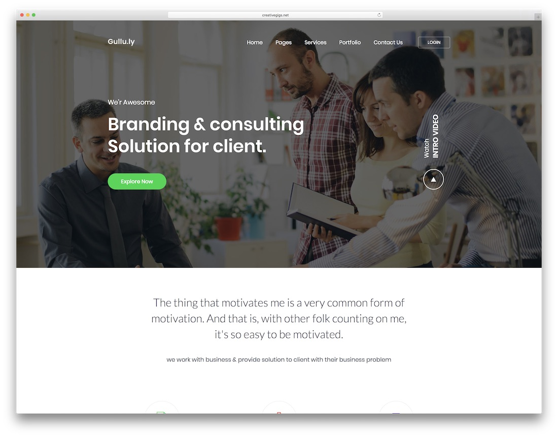 gulluly consulting website template