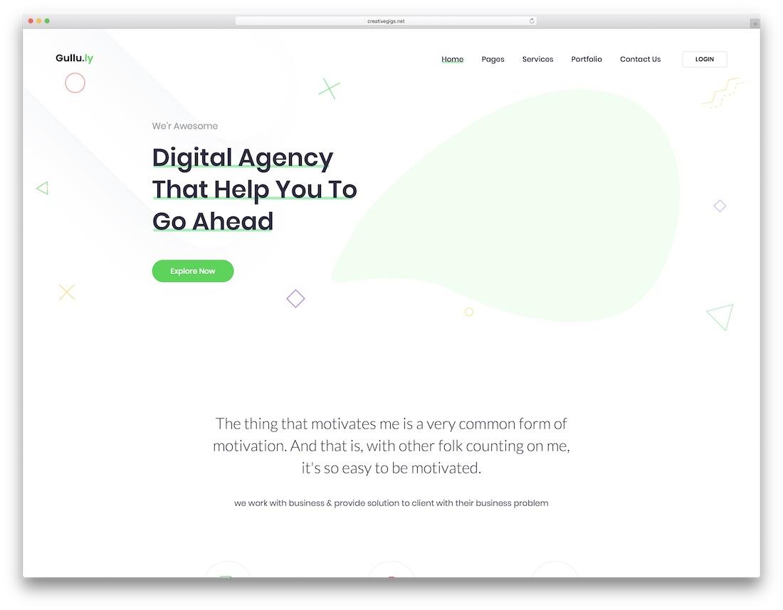 gulluly marketing website template