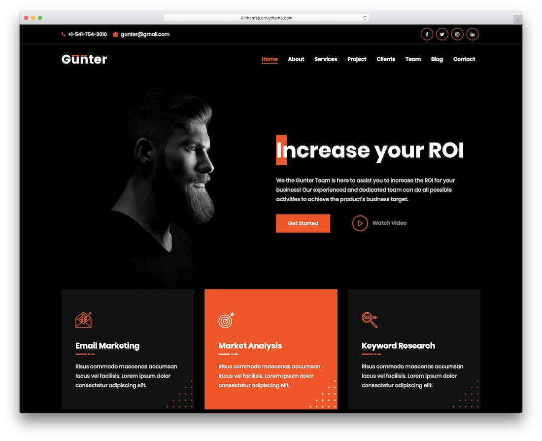 gunter rtl wordpress theme