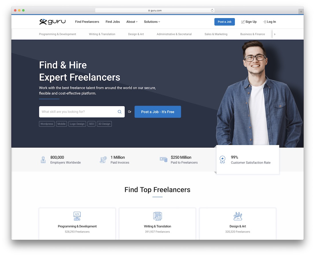 guru freelance marketplace