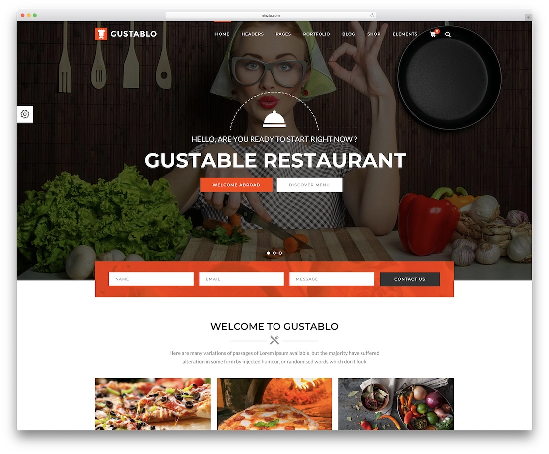 gustablo restaurant and cafe wordpress theme