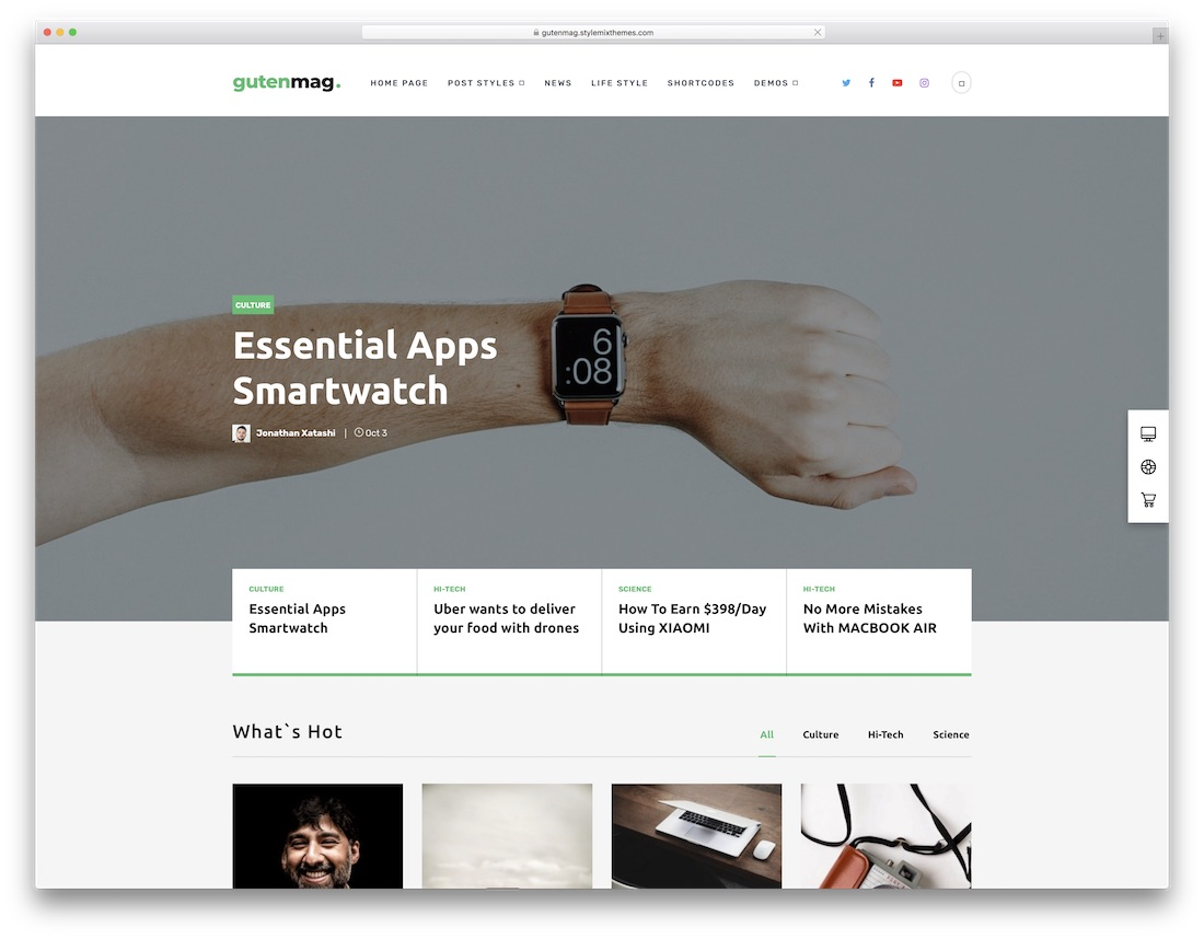 gutenmag wordpress theme compatible with gutenberg