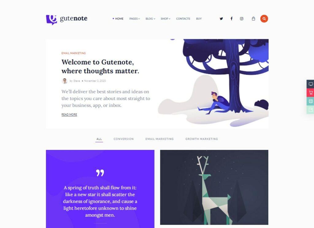 Gutenote   Gutenberg WordPress Blog