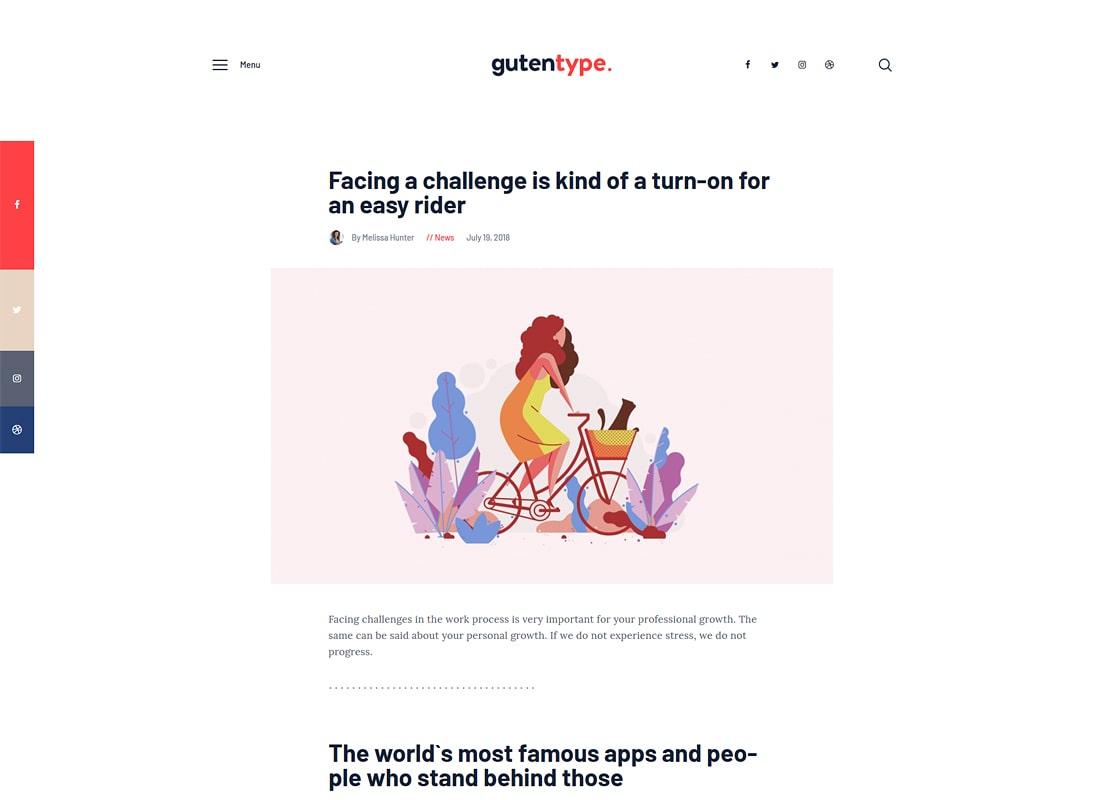 Gutentype | 100% Gutenberg WordPress Theme for Modern Blog