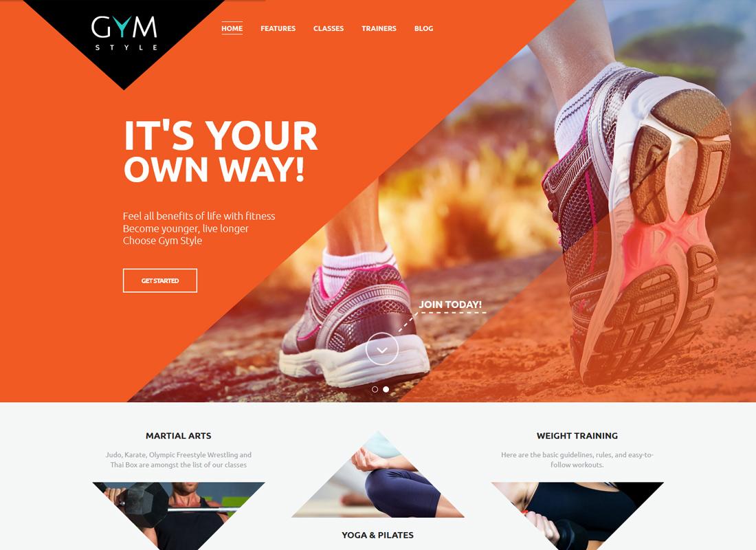 GYM - Sport & Fitness Club WordPress Theme