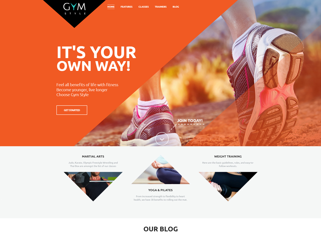 GYM | Sport & Fitness Club WordPress Theme
