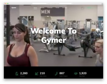 Gymer Free Template
