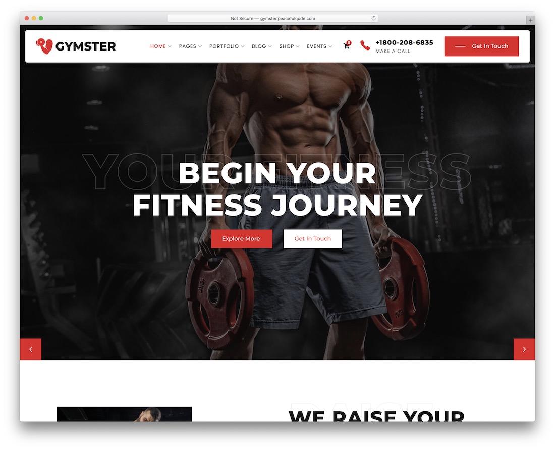 gymster crossfit wordpress theme