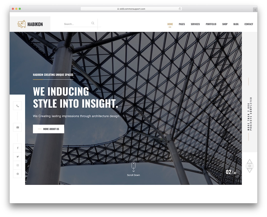 habikon interior design wordpress theme