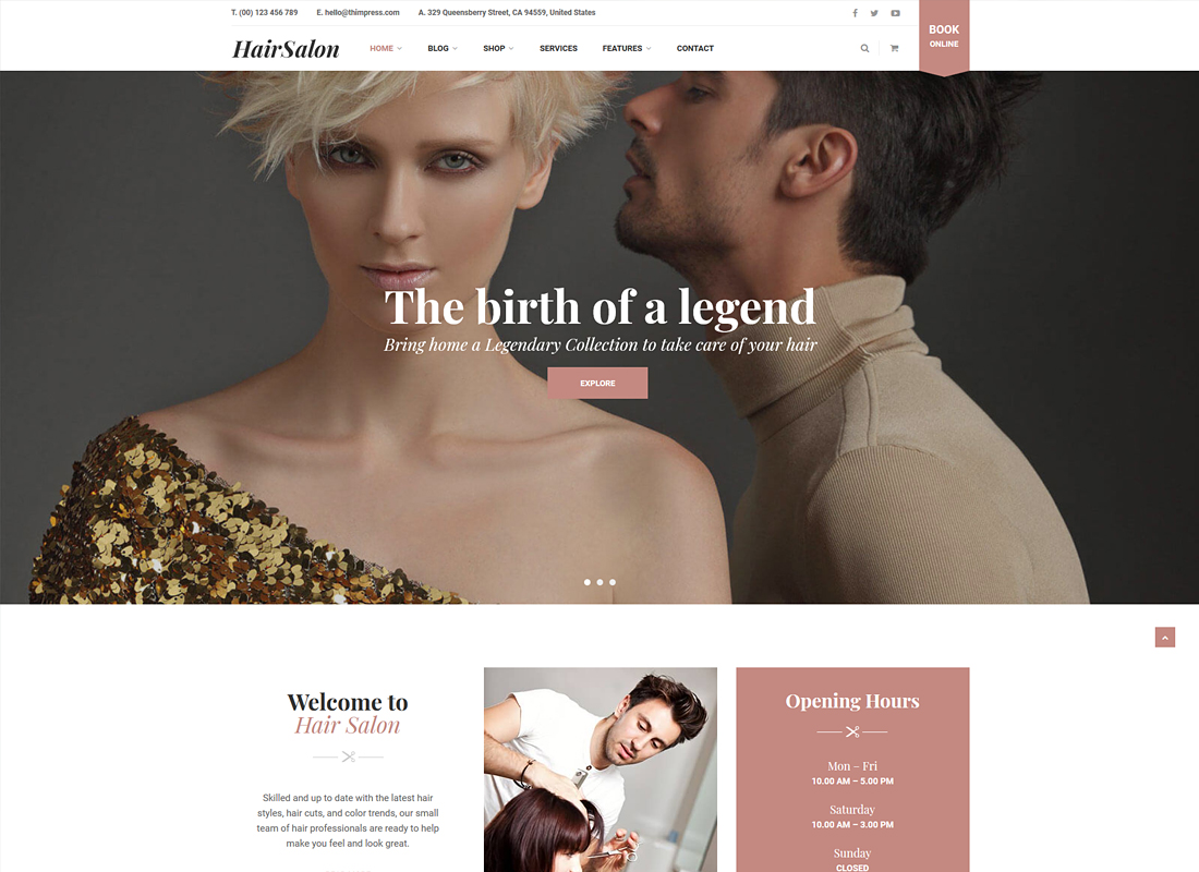 HairSalon | Hair & Beauty Salon WordPress Theme