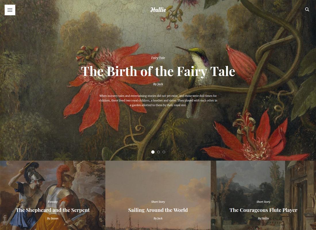 Hallie | WordPress Theme for Writers