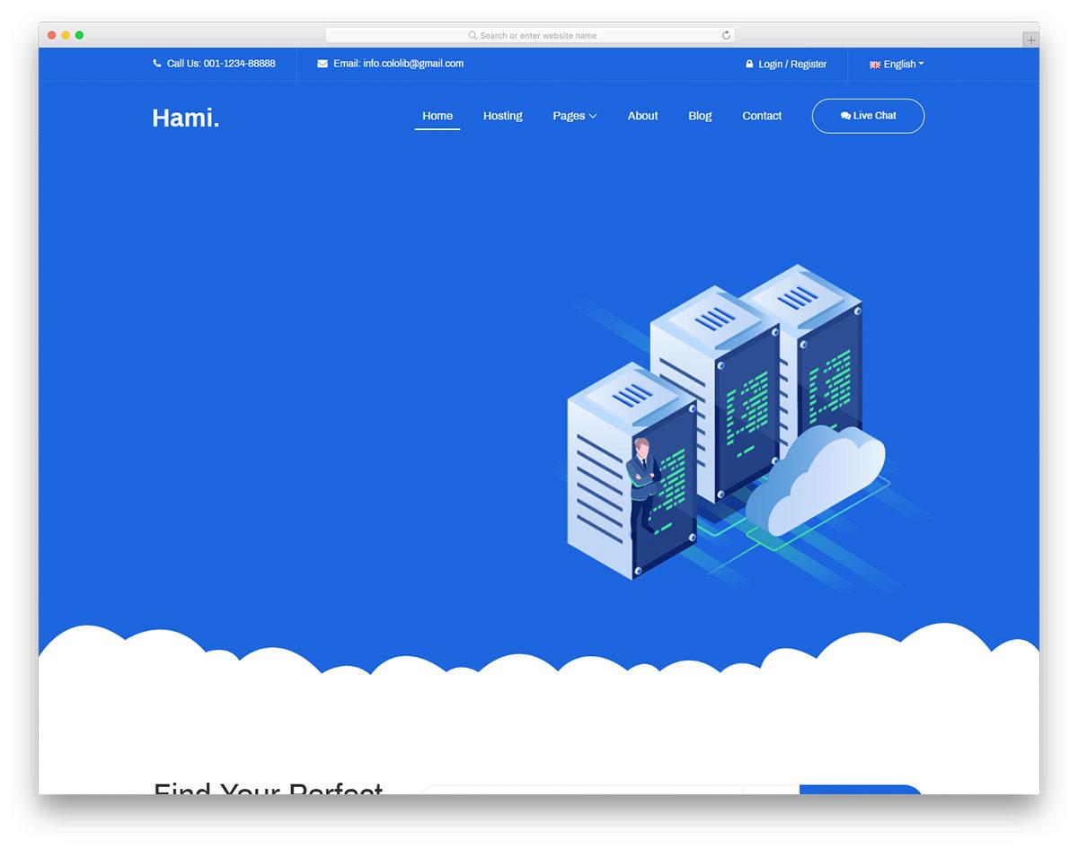 Скачать бесплатно html шаблон Hami