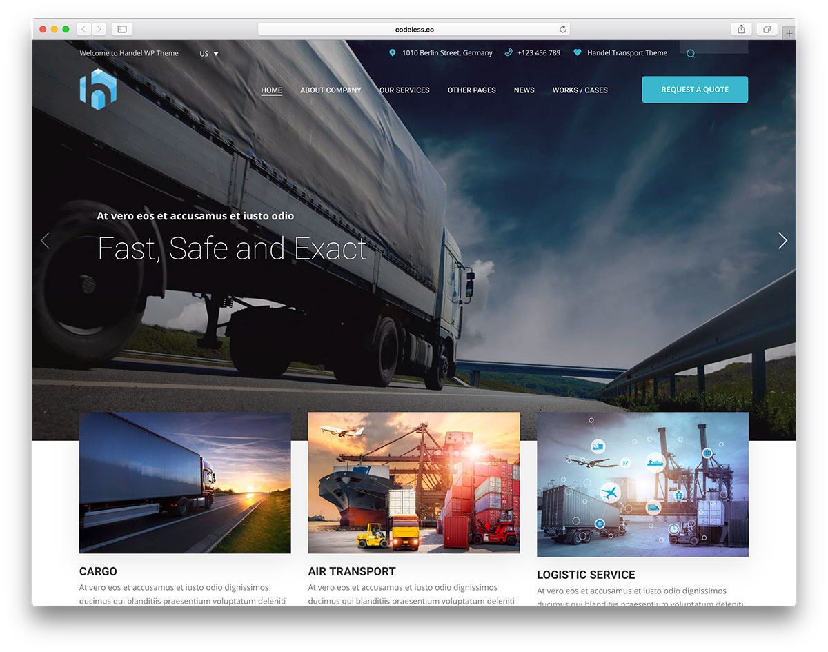 37 Top Transportation & Logistics WordPress Themes 2019 - Colorlib