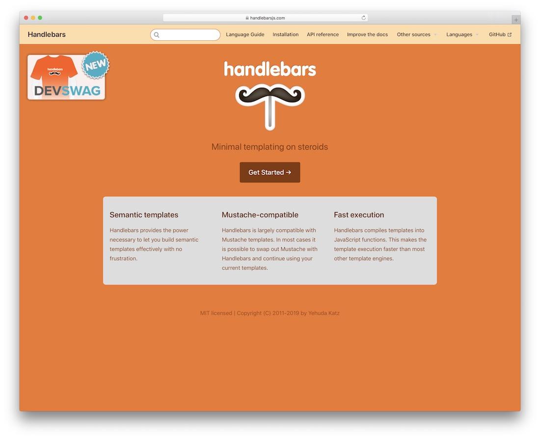 handlebars minimal templating for javascript