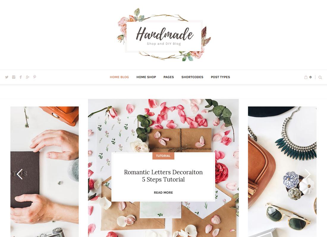 Handmade Shop | Handicraft Blog & Creative Shop WordPress Theme