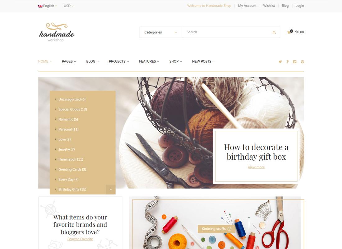 Handmade   Handmade Workshop WordPress WooCommerce Theme