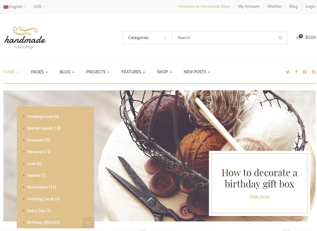 Handmade | Shop WordPress WooCommerce Theme