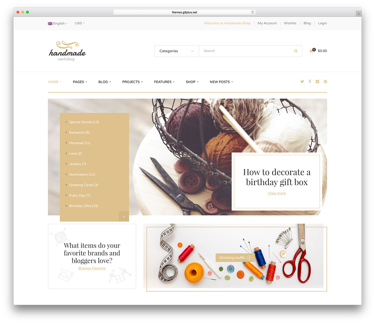 49 beautiful responsive wordpress shop themes 2018 colorlib handmade is a shop and selling oriented wordpress theme it comes with 8 homepages and a live demo to check out it uses incredible advanced admin panel reheart