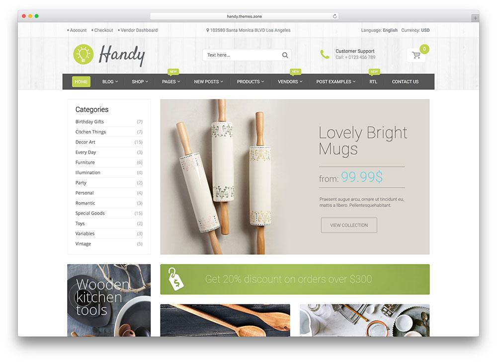 handy - green ecommerce theme