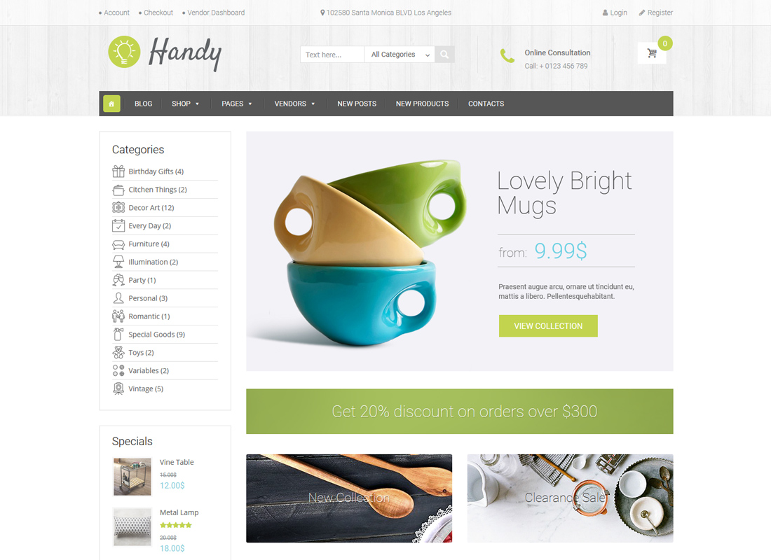 Handy   Handmade Shop WordPress WooCommerce Theme