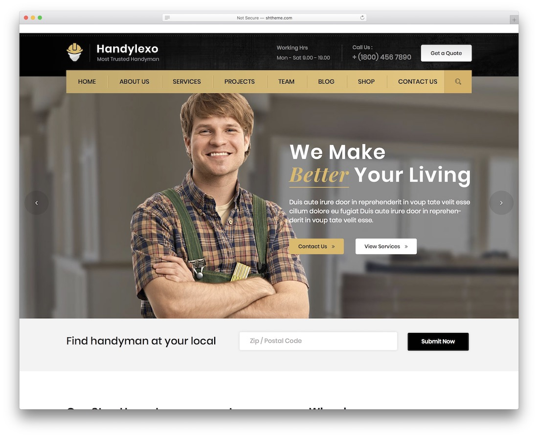 handylexo craftsman wordpress theme