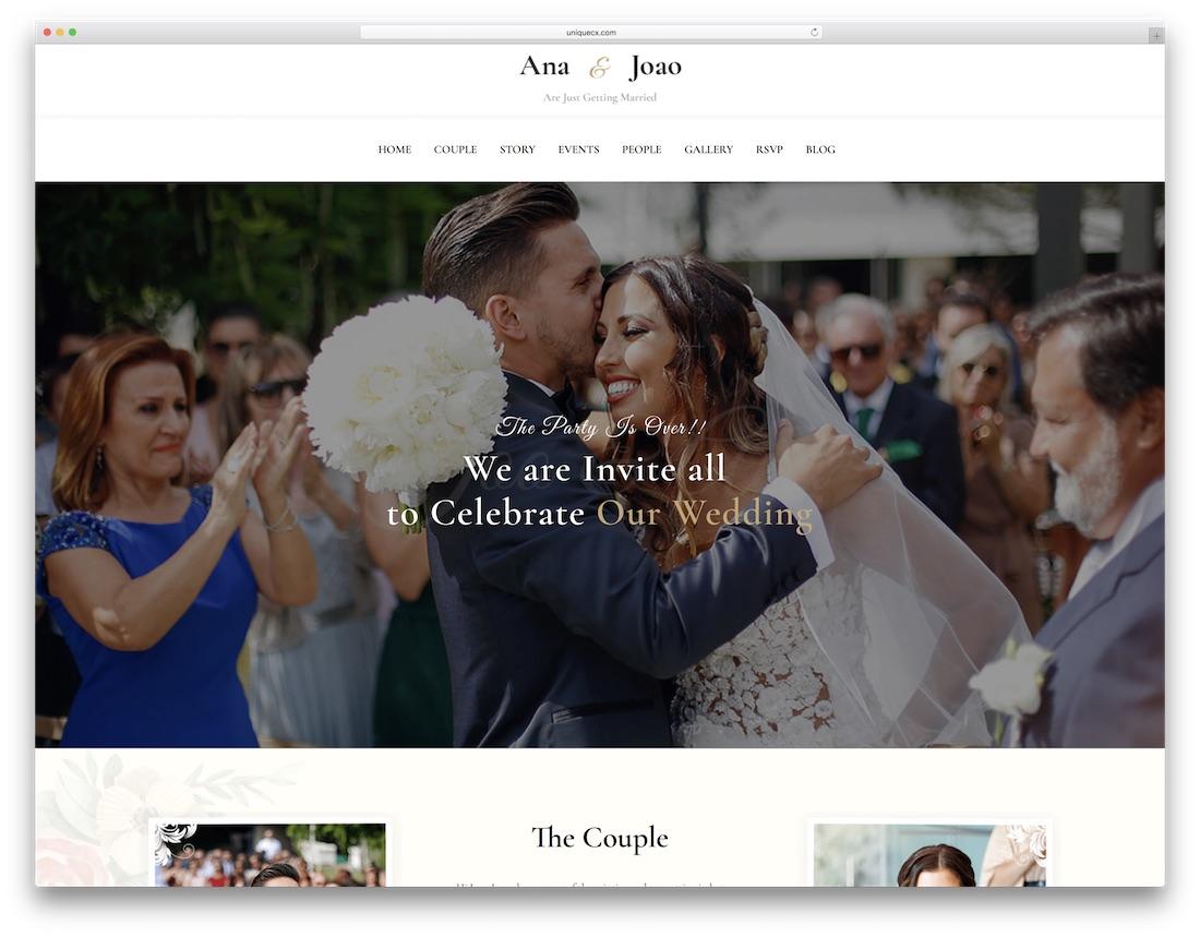 happy couple html wedding website template